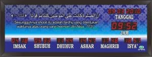 jual jam digital masjid di tegal