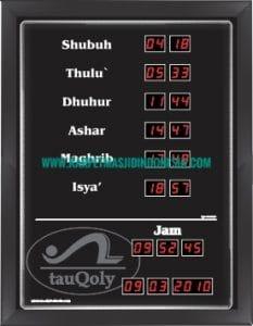 jam digital masjid cikarang