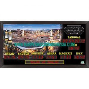 jam digital masjid running teks