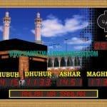 jam digital masjid di jakarta