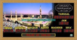 jam digital masjid di bekasi