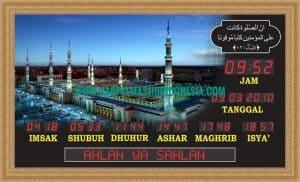 jam waktu sholat masjid